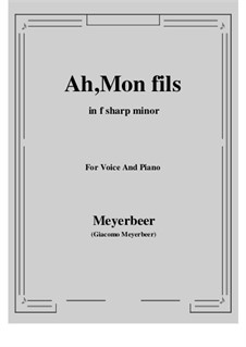 Der Prophet: Ah, Mon fils by Giacomo Meyerbeer
