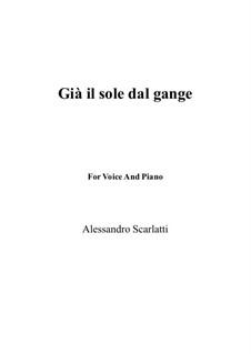 Gia' il sole dal Gange: Für Flöte und Piano by Alessandro Scarlatti