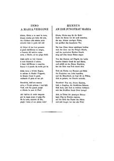 Hymne an die Jungfrau Maria, S.39: Vollpartitur by Franz Liszt