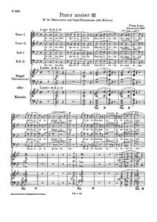 Pater noster III, S.41: Für Männerchor und Orgel (oder Harmonium, oder Klavier) by Franz Liszt