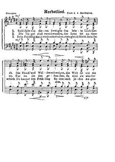 Herbstlied: Herbstlied by Ludwig van Beethoven