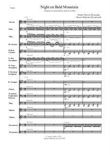 Eine Nacht auf dem kahlen Berge: For Concert Band by Modest Mussorgski