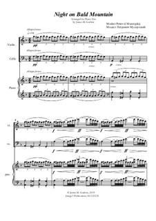 Eine Nacht auf dem kahlen Berge: Für Klaviertrio by Modest Mussorgski