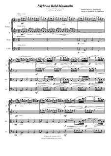 Eine Nacht auf dem kahlen Berge: Für Streichquartett by Modest Mussorgski