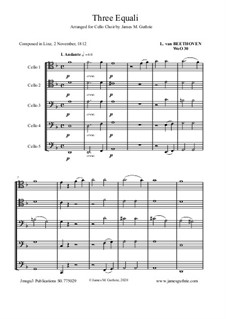 Drei Equale, WoO 30: For Cello Choir by Ludwig van Beethoven