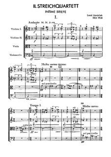 Streichquartett Nr.2 'Intime Blätter', JW 7/13: Vollpartitur by Leoš Janáček