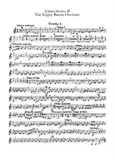 Der Zigeunerbaron: Ouvertüre – Trompetenstimmen by Johann Strauss (Sohn)