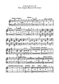 Der Zigeunerbaron: Ouvertüre – Harfestimme by Johann Strauss (Sohn)