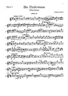 Die Fledermaus: Ouvertüre – Oboenstimme I by Johann Strauss (Sohn)