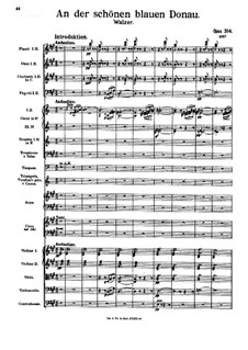 An der schönen blauen Donau, Op.314: Für Orchester und Männerchor (ad libitum) by Johann Strauss (Sohn)