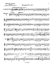 Künstlerleben, Op.316: Trompetenstimme I by Johann Strauss (Sohn)