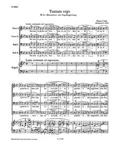 Tantum ergo, S.42: For male choir and organ by Franz Liszt