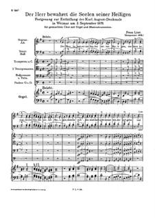 Der Herr bewahret die Seelen seiner Heiligen, S.48: Der Herr bewahret die Seelen seiner Heiligen by Franz Liszt