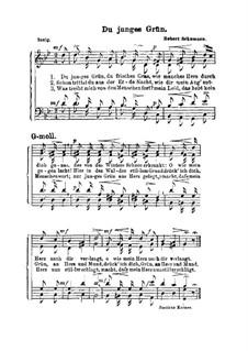 Zwölf Gedichte für Stimme und Klavier, Op.35: Nr.4 Erstes Grün, für Stimmen by Robert Schumann
