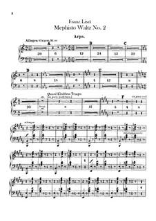 Walzer Nr.2 in Es-Dur für Orchester, S.111: Harfenstimme by Franz Liszt