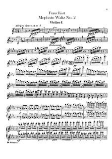 Walzer Nr.2 in Es-Dur für Orchester, S.111: Violinstimme I-II by Franz Liszt