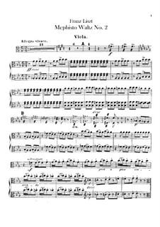 Walzer Nr.2 in Es-Dur für Orchester, S.111: Violastimme by Franz Liszt