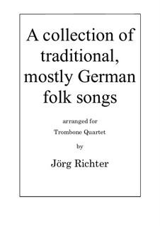 19 Volkslieder- und Kunstlieder für Posaunenquartett: 19 Volkslieder- und Kunstlieder für Posaunenquartett by folklore