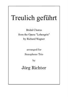 Brautlied: Für Saxophon Trio by Richard Wagner