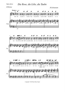 Nr.3 Die Rose, die Lilie: High edition by Robert Schumann