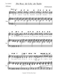 Nr.3 Die Rose, die Lilie: Low edition by Robert Schumann