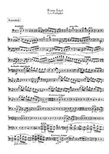 Symphonische Dichtung Nr.3 'Les préludes' für Orchester, S.97: Kontrabass-Stimme by Franz Liszt