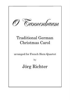 O Tannenbaum: Für Horn Quartett by folklore