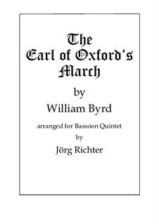 The Earl of Oxford's March: Für Fagott Quintett by William Byrd
