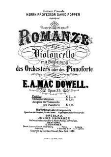 Romanze für Cello und Orchester, Op.35: Romanze für Cello und Orchester by Edward MacDowell