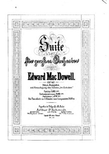 Suite für Orchester Nr.1, Op.42: Vollpartitur by Edward MacDowell
