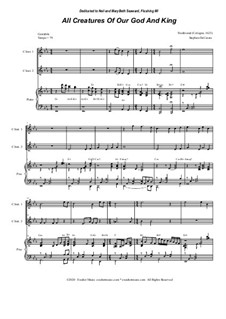 All Creatures of Our God and King: Duet for C-Instruments by folklore