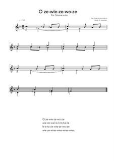 O ze-wie-ze-wo-ze: For guitar solo (F Major) by folklore