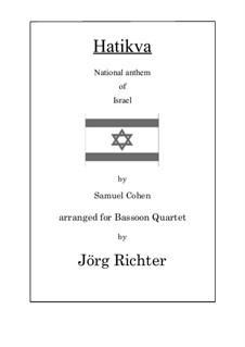 Hatikva: Für Fagott Quartett by Samuel Cohen