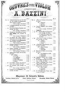 Grosser Etüde Nr.1, Op.49: Partitur für Violin und Klavier by Antonio Bazzini