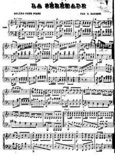 Serenade für Klavier: Serenade für Klavier by Giovanni Luigi Bazzoni