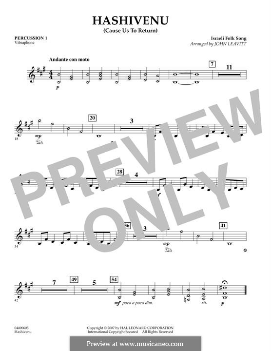 Hashiveinu (Help Us To Return): Percussion 2 part by folklore