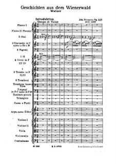 Geschichten aus dem Wienerwald, Op.325: Vollpartitur by Johann Strauss (Sohn)