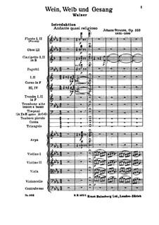 Wein, Weib und Gesang, Op.333: Vollpartitur by Johann Strauss (Sohn)