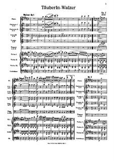 Täuberln-Walzer, Op.1: Täuberln-Walzer by Johann Strauss (Vater)
