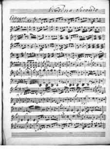 Cembalokonzert in D-Dur: Violinstimme II by Niccolò Jommelli