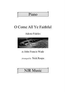 Piano version: Intermediate piano by John Francis Wade