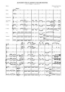 Konzert für Klarinett und Orchester in A-Dur, K.622: Movement 1 by Wolfgang Amadeus Mozart