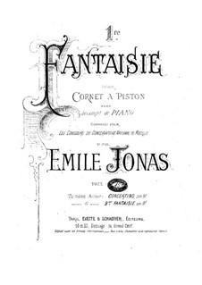 Fantaisie Nr.1 für Kornett und Klavier: Partitur by Emile Jonas