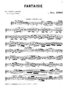 Fantaisie Nr.1 für Kornett und Klavier: Solostimme by Emile Jonas