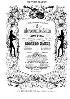 Gondolierа für Violine (oder Viola Alta, oder Cello) und Klavier: Viola Alta Stimme by Odoardo Barri