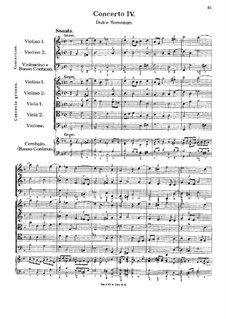 Konzert Nr.4 in g-Moll 'Dulce Somnium': Konzert Nr.4 in g-Moll 'Dulce Somnium' by Georg Muffat