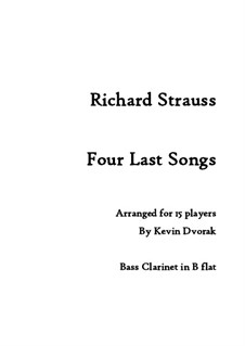 Four Last Songs arranged for Soprano and 15 players: Four Last Songs arranged for Soprano and 15 players by Richard Strauss