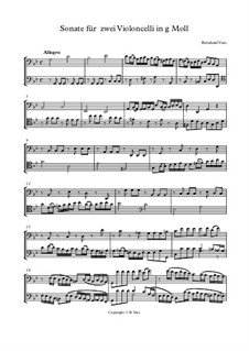 Sonate für zwei Violoncelli in g Moll: Sonate für zwei Violoncelli in g Moll by Bernhard Vass