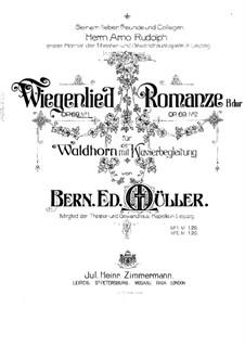 Wiegenlied für Waldhorn und Klavier, Op.69 No.1: Partitur by Bernhard Edward Müller