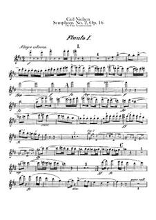 Sinfonie Nr.2 'Die vier Temperamente', FS 29 Op.16: Flötenstimme by Carl Nielsen